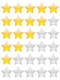 Estrelas da avaliação Foto de Stock