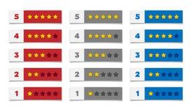Estrelas da avaliação Fotografia de Stock Royalty Free