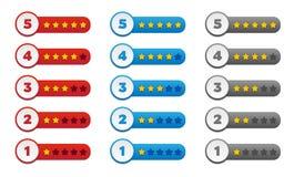 Estrelas da avaliação Imagens de Stock