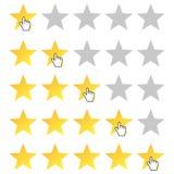 Estrelas da avaliação ajustadas Fotografia de Stock Royalty Free