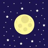 Estrelas da lua Fotografia de Stock Royalty Free