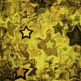 Estrelas das forças armadas de Grunge Fotografia de Stock
