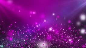Estrelas de brilho cor-de-rosa brilhantes que dão laços no fundo do movimento video estoque