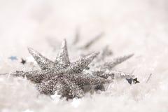 Estrelas de brilho do Natal Imagens de Stock Royalty Free