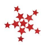 Estrelas de brilho vermelhas Imagens de Stock Royalty Free