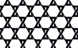 Estrelas de David pretas, bonitas feitas da câmera preta ilustração do vetor