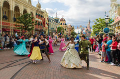 Estrelas de Disney na parada Foto de Stock Royalty Free