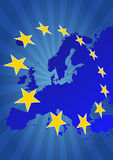 Estrelas de Europa Imagens de Stock Royalty Free