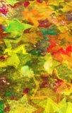 Estrelas do Grunge na parede Imagem de Stock