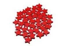 Estrelas de madeira Fotografia de Stock