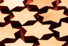 Estrelas de madeira do Natal Imagens de Stock