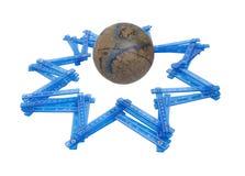 Estrelas de medição do mundo Imagens de Stock