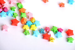 Estrelas de papel foto de stock