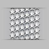 Estrelas de papel do volume Fotografia de Stock
