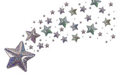 Estrelas de prata Foto de Stock Royalty Free