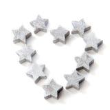 Estrelas de prata Fotografia de Stock