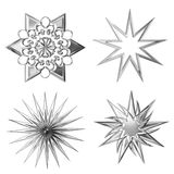Estrelas de prata Fotos de Stock Royalty Free