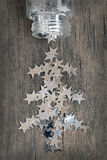 Estrelas de prata para o Natal Fotografia de Stock