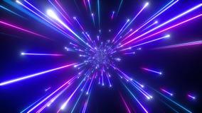 estrelas de queda 3d, gal?xia grande do golpe, fundo c?smico abstrato, celestial, beleza do universo, velocidade da luz, fogos de ilustração stock