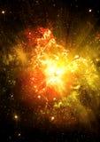 Estrelas de um planeta e de uma galáxia Foto de Stock Royalty Free
