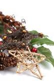 Estrelas de vime do Natal Fotos de Stock