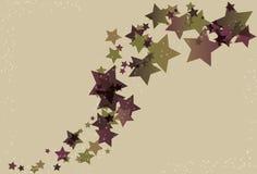 Estrelas desarrumado e fundo do redemoinho Fotografia de Stock