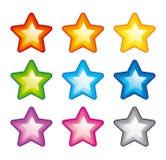 Estrelas do arco-íris do vetor Fotografia de Stock Royalty Free