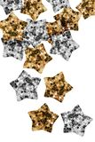 Estrelas do brilho isoladas Fotos de Stock