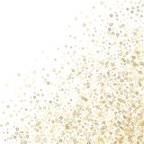Estrelas do brilho Natal min?sculo do ouro dos confetes luxuosos ilustração royalty free