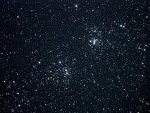 Estrelas do céu noturno, conjunto dobro Fotos de Stock