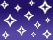 Estrelas do diamante Fotografia de Stock Royalty Free