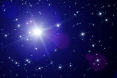 Estrelas do espaço ilustração do vetor
