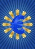 Estrelas do Euro Fotos de Stock Royalty Free