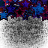Estrelas do grunge oxidado Fotografia de Stock Royalty Free