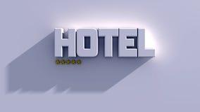 Estrelas do hotel 5 ilustração do vetor
