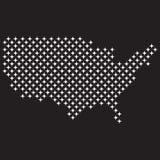 Estrelas do mapa dos EUA Foto de Stock Royalty Free