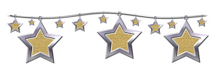 Estrelas do metal Foto de Stock Royalty Free