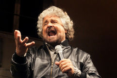 Estrelas do movimento cinco de Beppe Grillo Fotos de Stock Royalty Free
