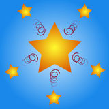 Estrelas do Natal Imagens de Stock