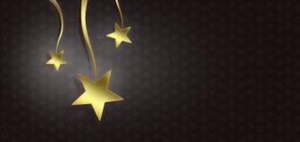 Estrelas do Natal no fundo preto Imagens de Stock