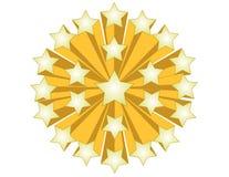 Estrelas do ouro ilustração do vetor
