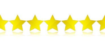 Estrelas do ouro Fotos de Stock