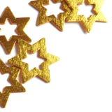 Estrelas do ouro Foto de Stock