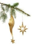 Estrelas do ouro Imagens de Stock