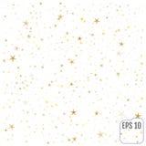 Estrelas do ouro Celebração dos confetes, decoros abstratos dourados de queda Imagem de Stock
