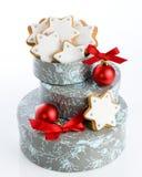 Estrelas do pão-de-espécie para o Natal Fotografia de Stock