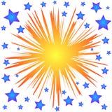 Estrelas do respingo Fotos de Stock Royalty Free