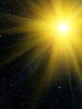 Estrelas do sol do céu Foto de Stock Royalty Free