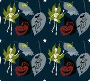 Estrelas do teste padrão de Halloween Imagens de Stock