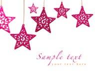 Estrelas do vermelho do Natal Fotos de Stock Royalty Free
